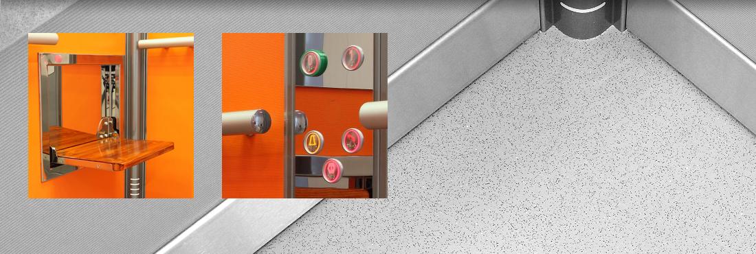 Designový nový výtah